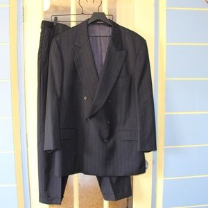 Vintage Yves Saint Laurent double breasted suit.
